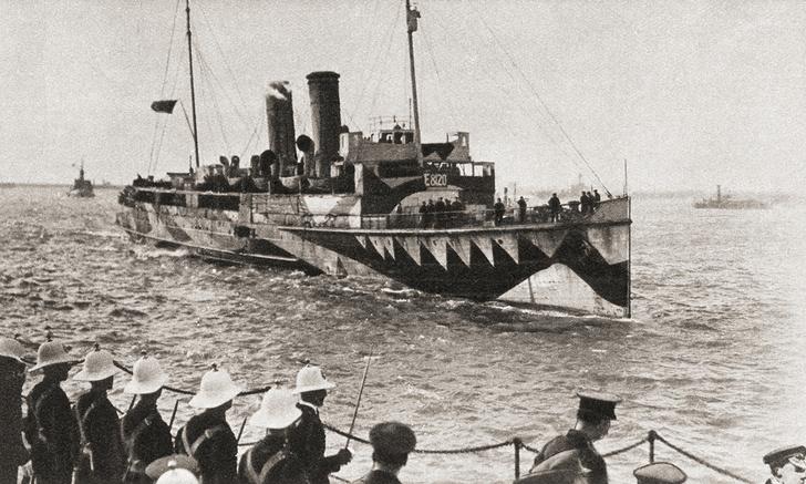 Фото №2 - Ослепляющий камуфляж: окраска британских кораблей во время Первой мировой войны