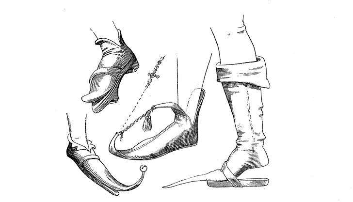 Фото №1 - Средневековая мода на острые туфли провоцировала проблемы со здоровьем