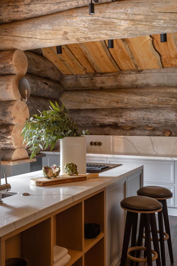 Фото №9 - Деревянная баня с высокотехнологичным дизайном в Подмосковье