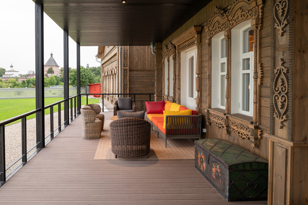 Фото №4 - Современная дача в деревянном доме в Суздале