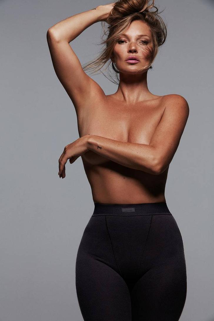 Фото №2 - Посмотрите на чертовски красивую Кейт Мосс в нижнем белье от бренда Ким Кардашьян