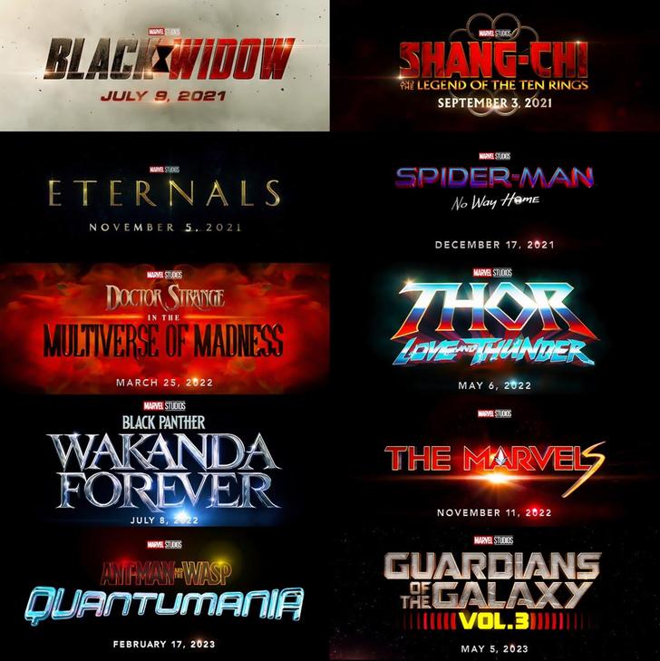 Фото №1 - Все грядущие фильмы Marvel и их даты премьеры в России одной картинкой и абзацем