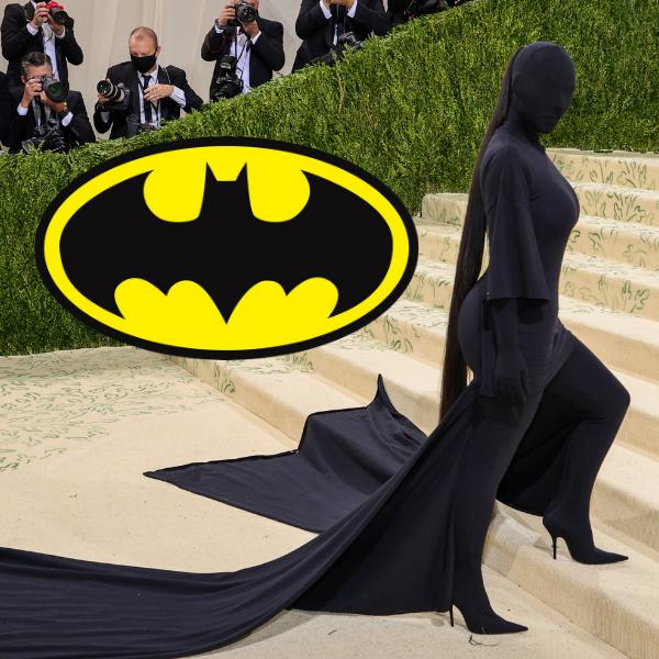 Фото №1 - Художник представил Ким Кардашьян с Met Gala 2021 в образе Бэтмена 😂