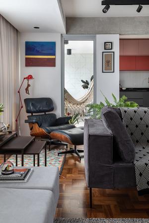 Фото №7 - Бетонная квартира с розовыми акцентами в Сан-Паулу
