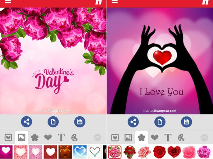 Приложение Valentine's Day 2016