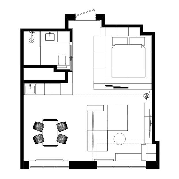 Фото №11 - Маленькая квартира в оттенках черного и серого