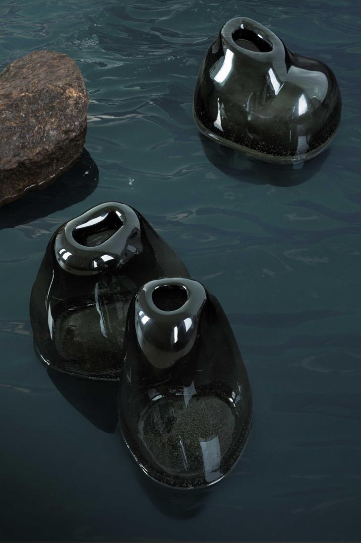 Фото №4 - Портреты воды: новая коллекция декора из стекла от Faina