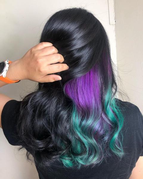 Фото №7 - 10 крутых идей скрытого окрашивания для разного цвета волос