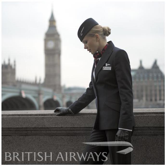 форма стюардессы фото British Airways