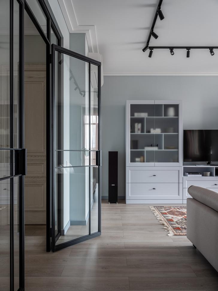 Фото №9 - Квартира 100 м² в оттенках зелени, моря, песка и заката