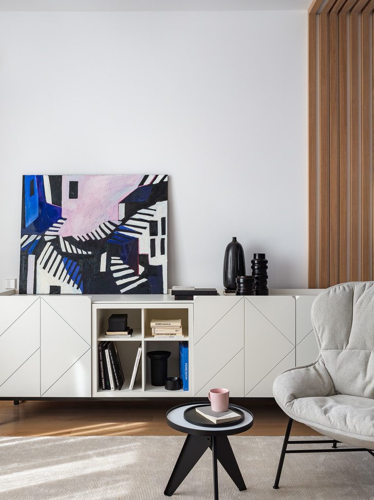 Фото №3 - Квартира 78 м² со стальной мозаикой на кухне