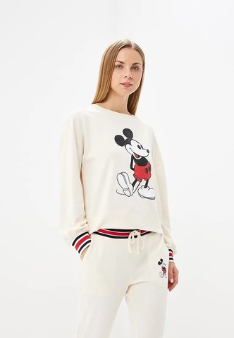 Купить свитшот с Микки Маусом недорого, пример Ирины Шейк