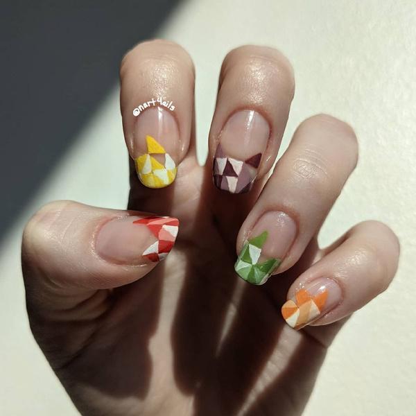 Фото №12 - Skittle nails: 12 идей конфетного маникюра
