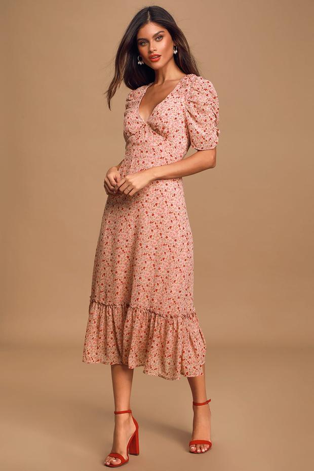 Фото №12 - 15 цветочных розовых платьев как у Селены Гомес в новом видео De Una Vez