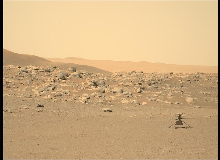 Фото №1 - Марсианский вертолет NASA совершил самый сложный полет