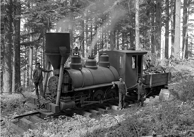 Фото №2 - История одной фотографии: переправа локомотива через каньон, 1915