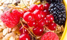 Овсянка с ягодами
