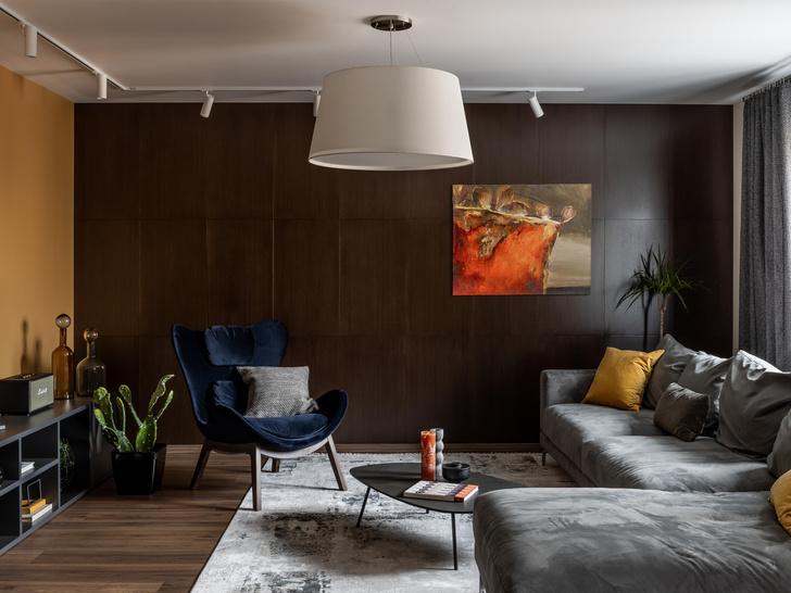 Фото №1 - Серый + горчица: уютная квартира 108 м² в Самаре