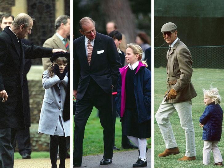 Фото №1 - Любимый дедушка: 25 самых трогательных фото принца Филиппа с внуками