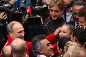 Юля с Владимиром Путиным во время Олимпиады в Сочи
