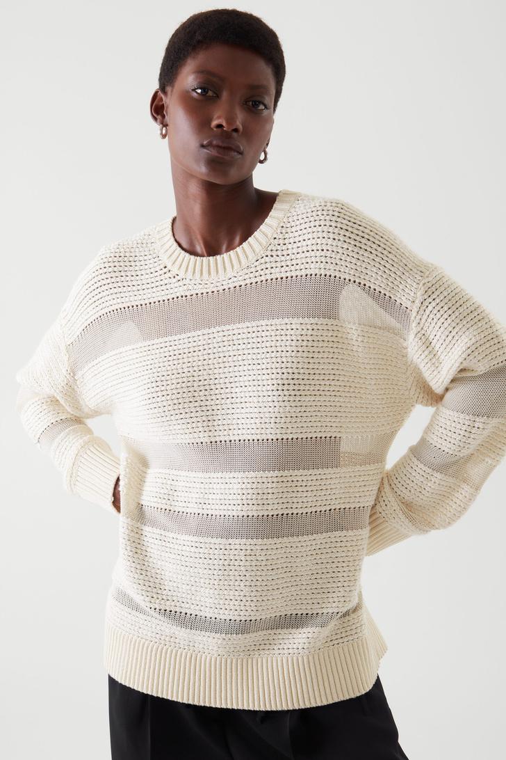 Фото №7 - Полосатый свитер— модное спасение от осенней хандры. И вот 10 классных вариантов на каждый день