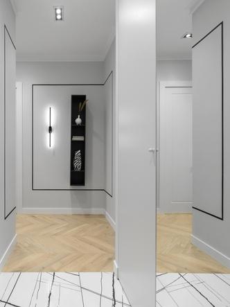 Фото №5 - Элегантная московская квартира в серых тонах 100 м²