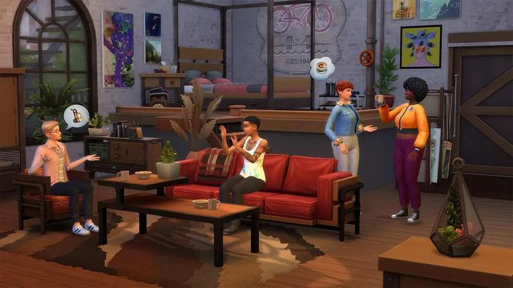 Фото №5 - Что тебя ждет в новом наборе «Лофт комплект» для The Sims 4 🌃