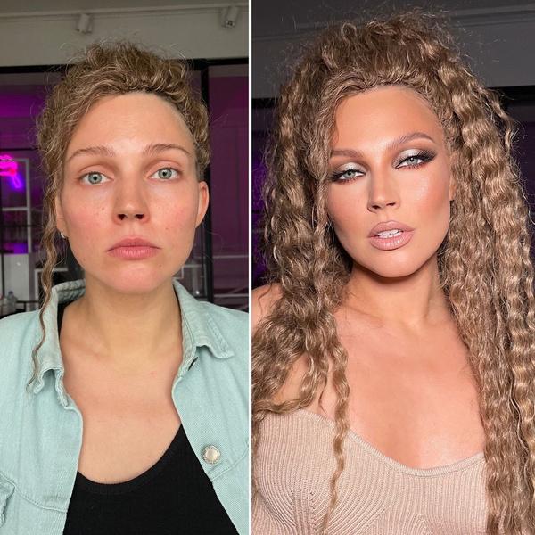 Магия преображения: 30 девушек до и после профессионального макияжа