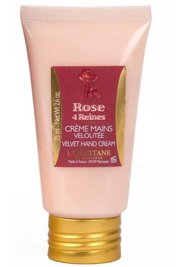 Бархатный Крем для рук Роза - 4 Королевы  Крем, L'Occitane. С маслом карите и витамином Е, восстанавливает, питает и защищает кожу рук от повседневных агрессивных воздействий.