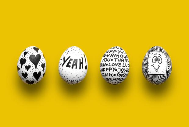 Фото №6 - Как прикольно покрасить яйца на Пасху: 15 креативных идей 🥚 🐇