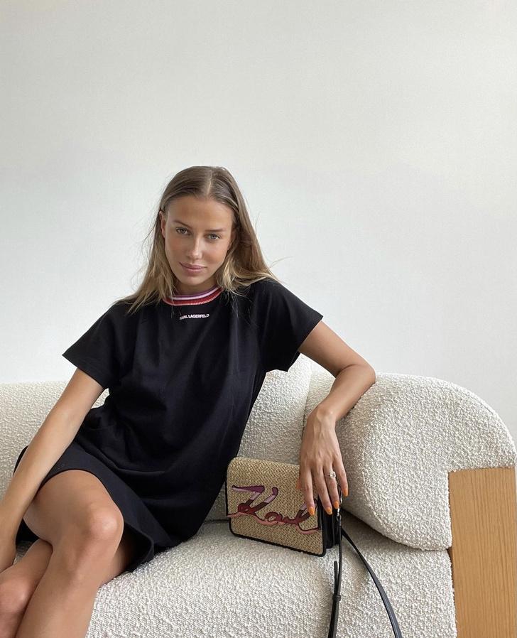 Фото №1 - Платье-футболка— лучшая вещь для жаркого лета. Доказывает Николь Потуральски