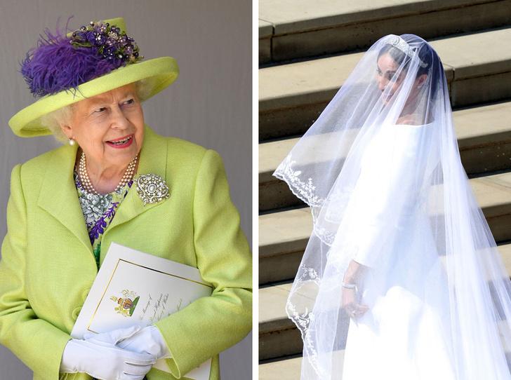Фото №1 - Первое недовольство: почему Королеве не понравилось свадебное платье Меган
