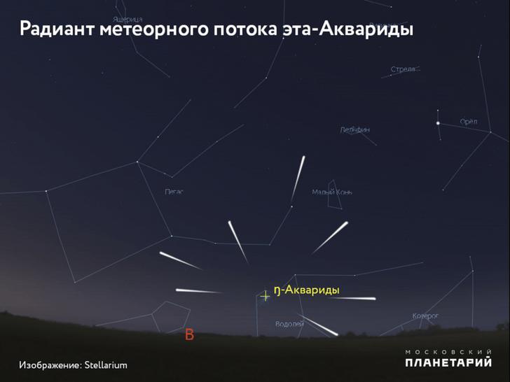 Фото №1 - В ночь с 5 на 6 мая в Москве можно будет наблюдать звездопад
