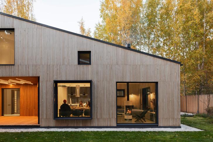 Фото №12 - Современная архитектура: деревянный дом 134 м² в Сибири