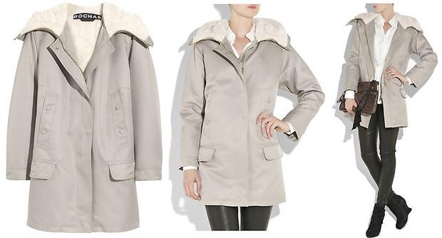 Светлое пальто Rochas