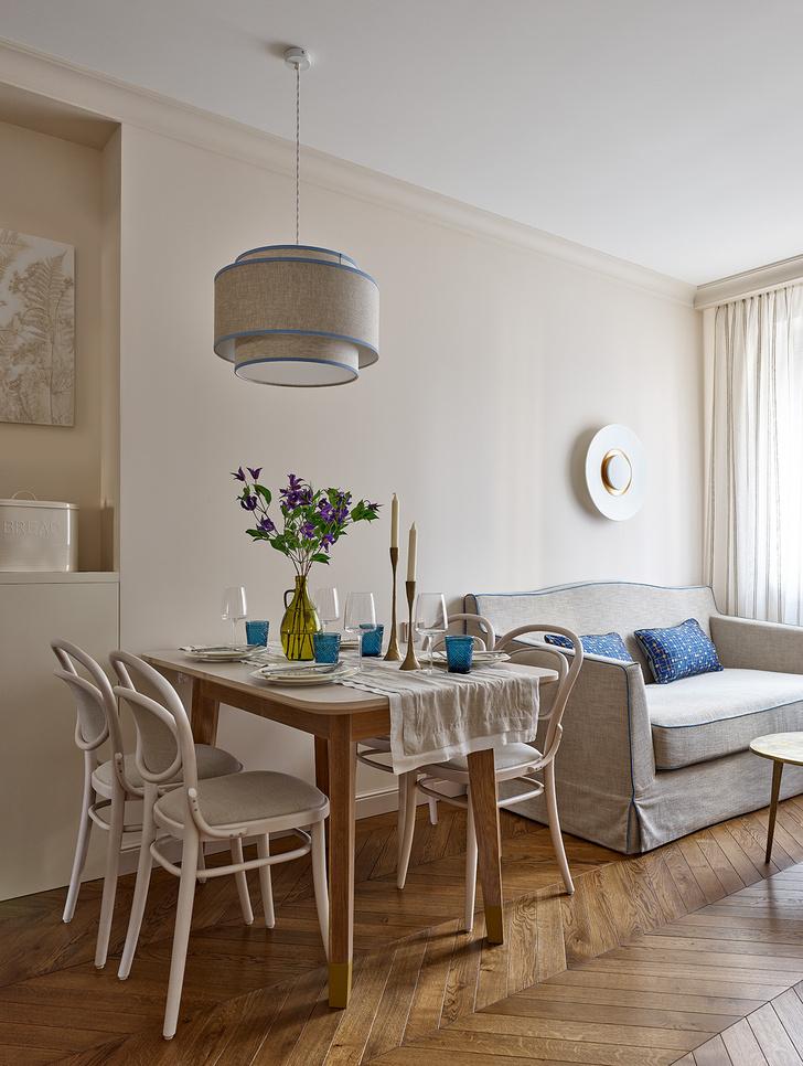 Фото №1 - Трехкомнатная квартира в оттенках синего цвета