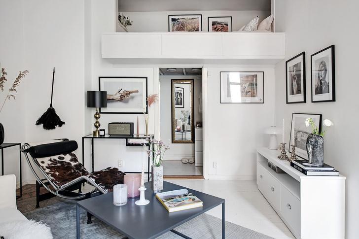 Фото №6 - Маленькая скандинавская квартира со спальней на антресоли