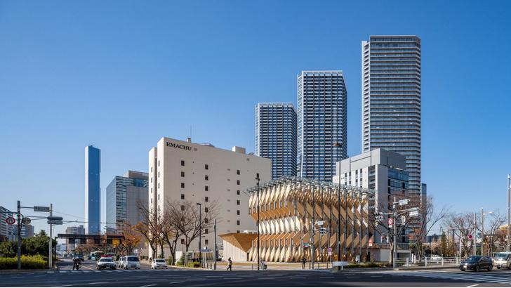Фото №1 - Деревянный павильон по проекту Кенго Кумы в Токио