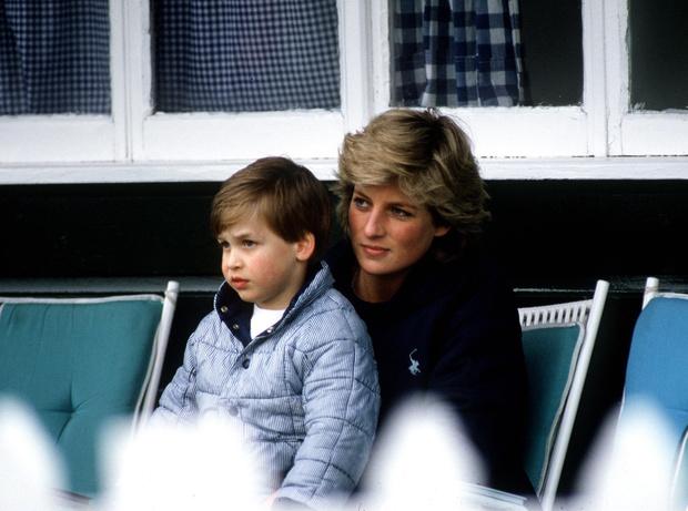 Принц Уильям и принцесса Диана