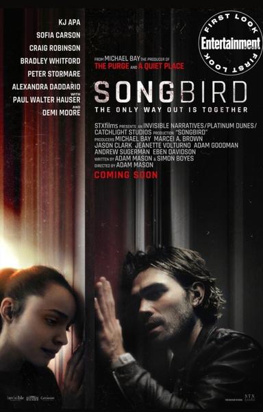 Фото №1 - Кей Джей Апа пытается спасти возлюбленную Софию Карсон в трейлере фильма о пандемии «Певчая птица»— смотри