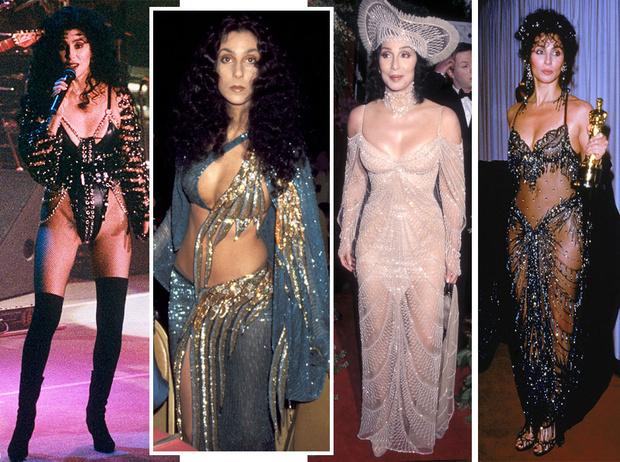 Фото №1 - Королева «голых» платьев: самые эпатажные наряды Шер, которые вошли в историю