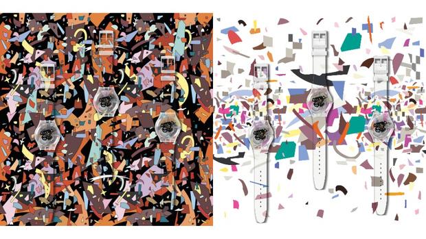 Фото №1 - Часы с артами Дмитрия Аске для проекта Swatch x You
