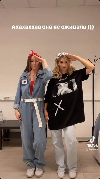 Фото №1 - Снова в тренде: носим футболку навыпуск как Аня Покров