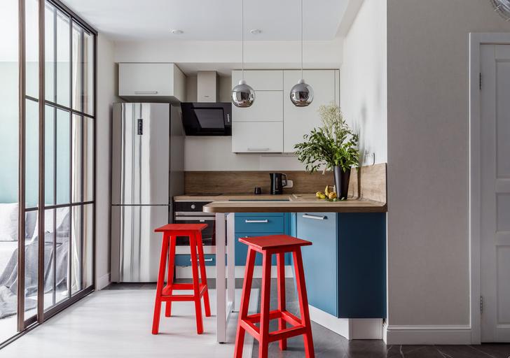 Фото №3 - Стеклянная перегородка на кухне: 8 оригинальных идей