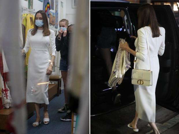 Фото №2 - Белое платье + сандалии Fendi: Анджелина Джоли на шопинге в Лос-Анджелесе