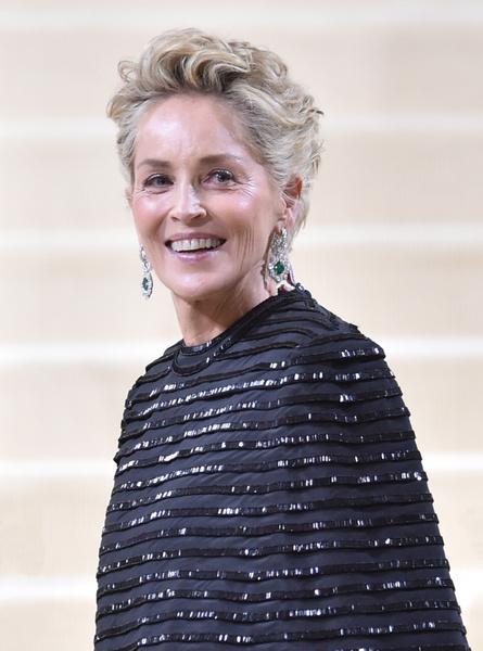 Фото №1 - Настоящая королева: Шэрон Стоун в необычном платье-одеялке очаровала князя Монако