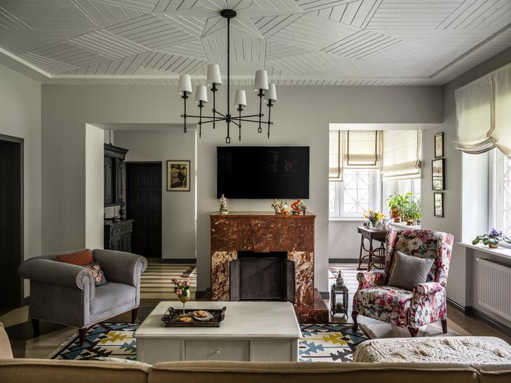 Фото №3 - Дачный дом с печью и винтажной мебелью в Подмосковье