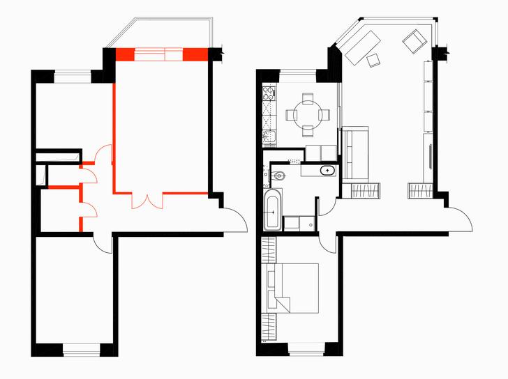 Фото №13 - Светлая квартира 64 м² с золотыми акцентами
