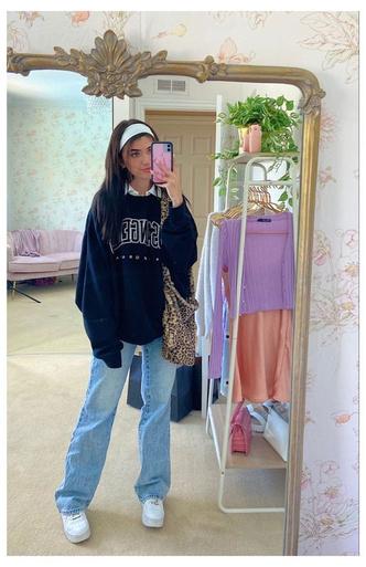 Фото №4 - Тренд: смотри, с чем носить широкие джинсы в 2021
