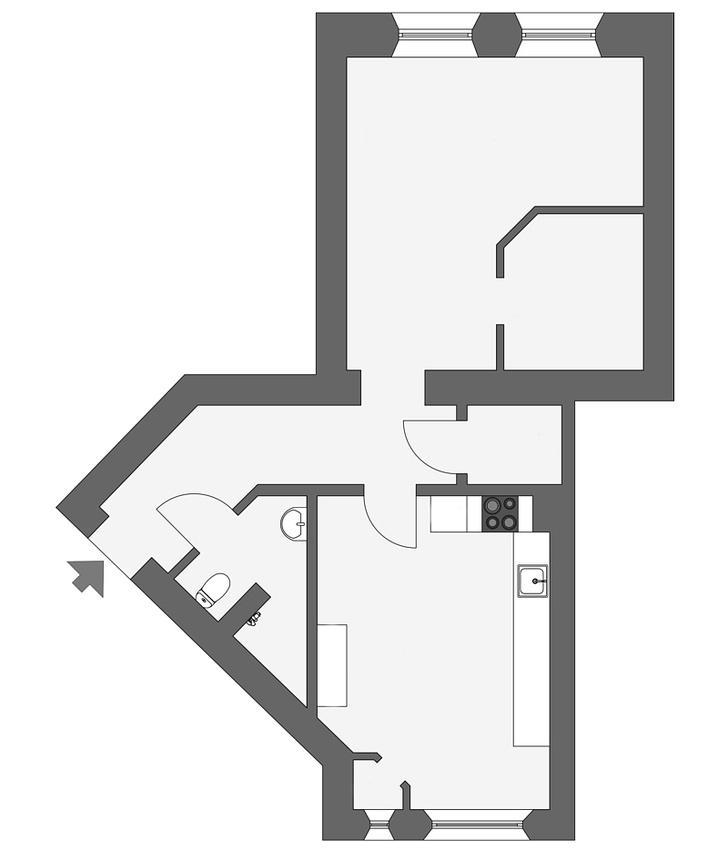 Фото №20 - Уютная скандинавская квартира с микро-спальней в Гетеборге